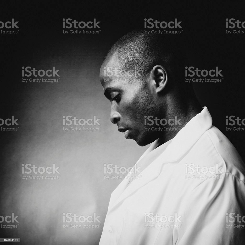 contemplative doctor royalty-free stock photo