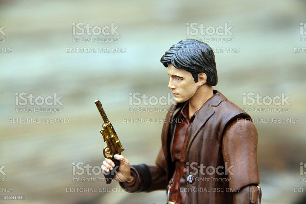 Contemplative Gunman stock photo