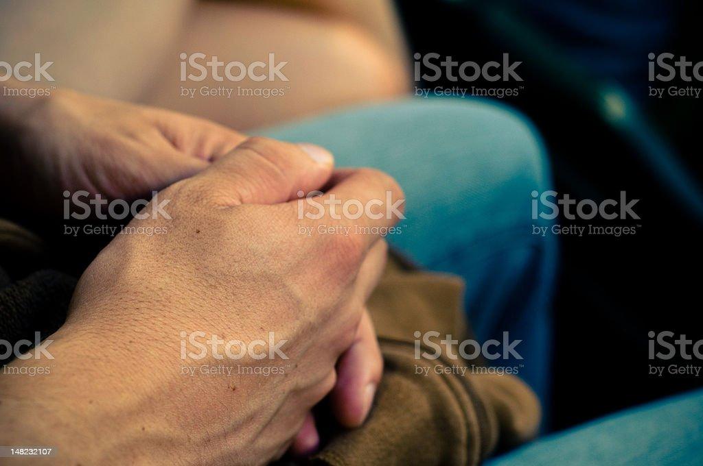 Contemplative Hands stock photo