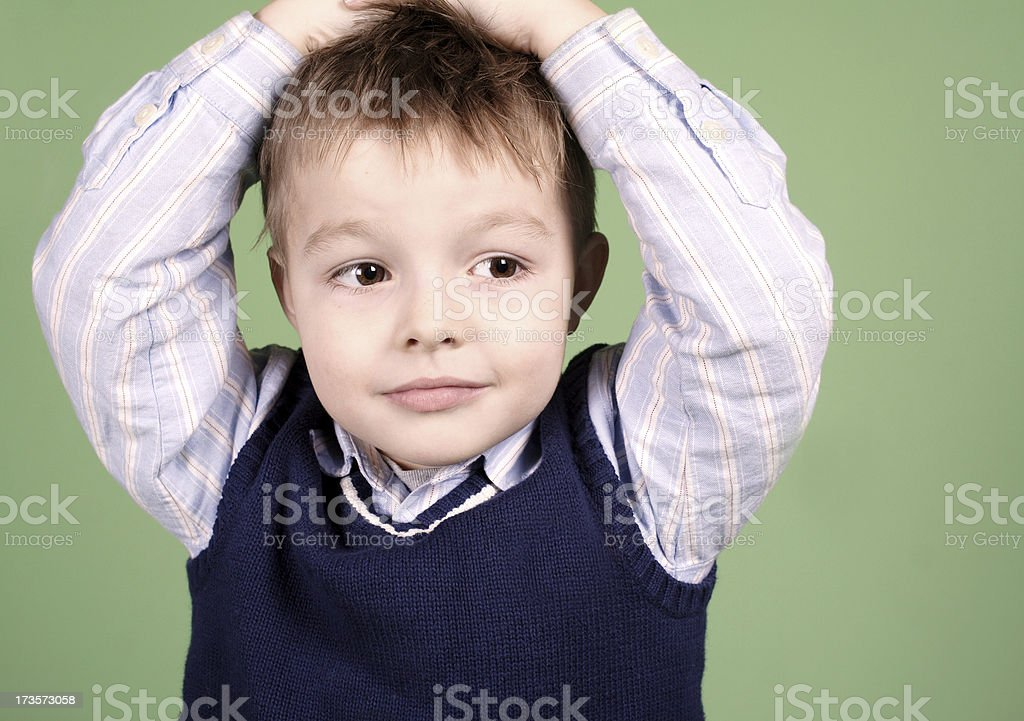 Contemplative Kid royalty-free stock photo