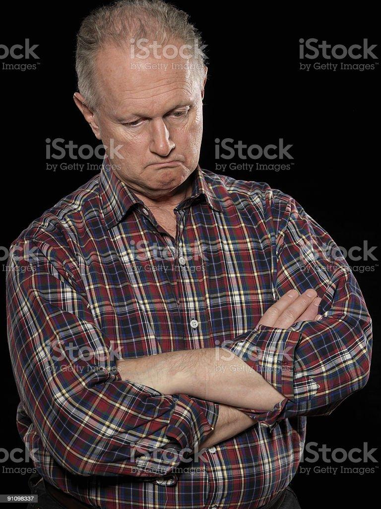 Contemplative man royalty-free stock photo