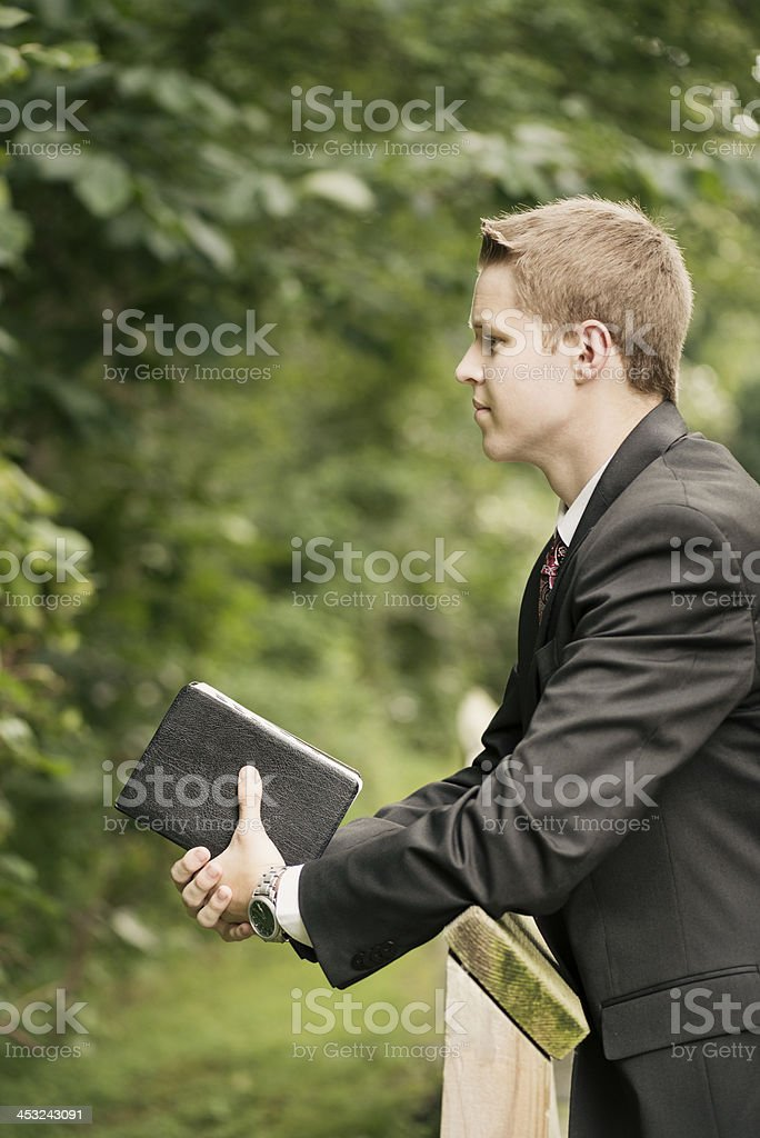 Contemplative Missionary Vertical stock photo