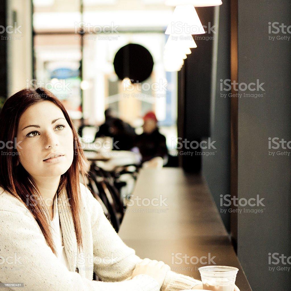 Contemplative royalty-free stock photo
