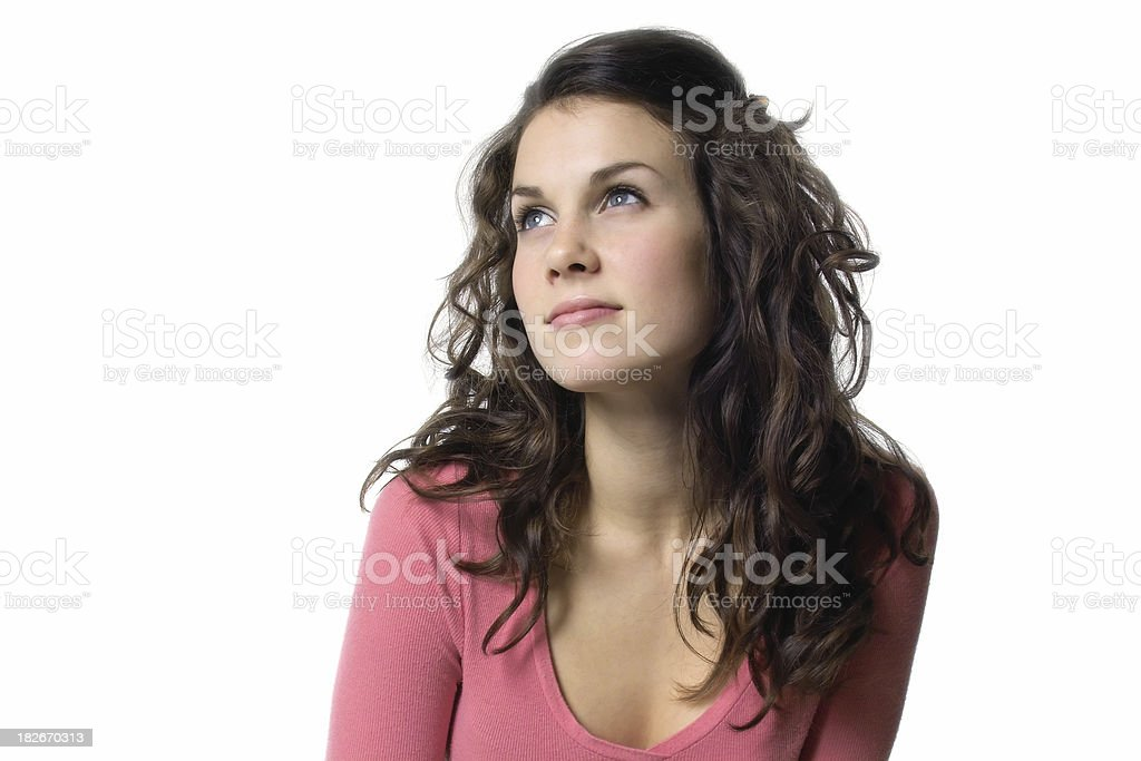 Contemplative stock photo