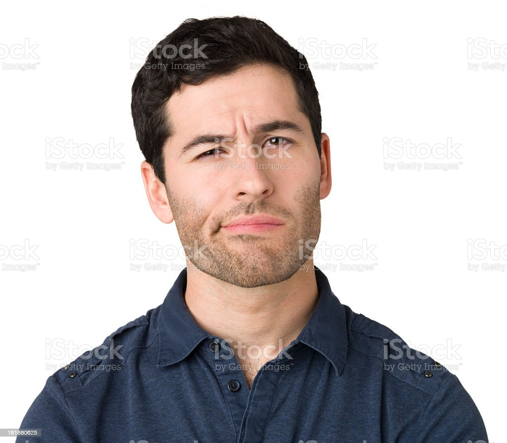 Contemplative Uncertain Young Man royalty-free stock photo