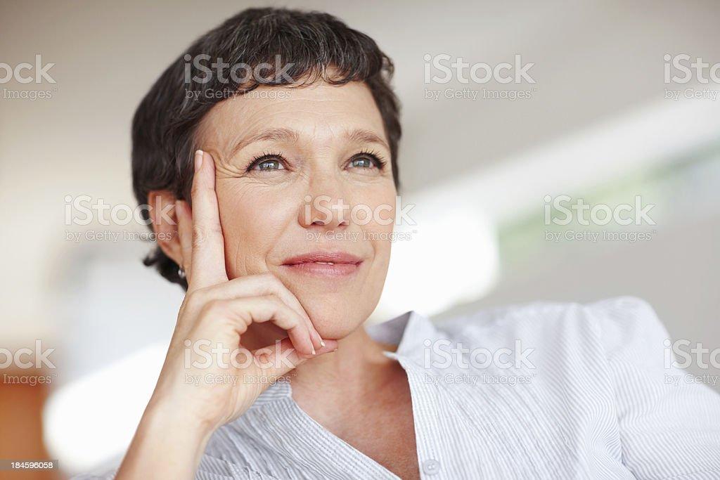 Contemplative woman royalty-free stock photo