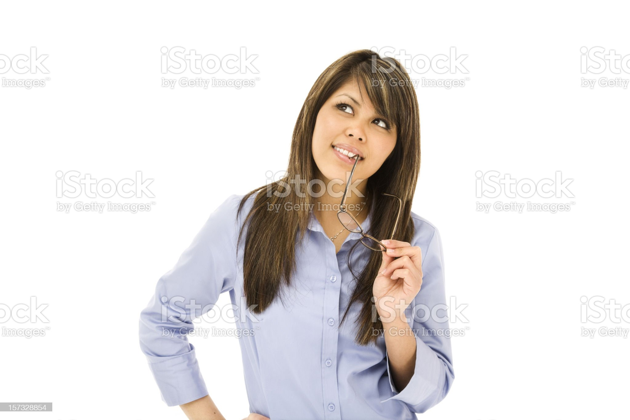 Contemplative Young Woman royalty-free stock photo