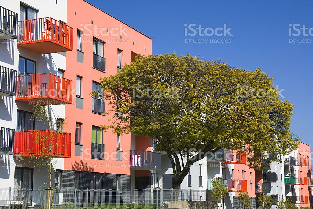 Contemporary Apartment House royalty-free stock photo