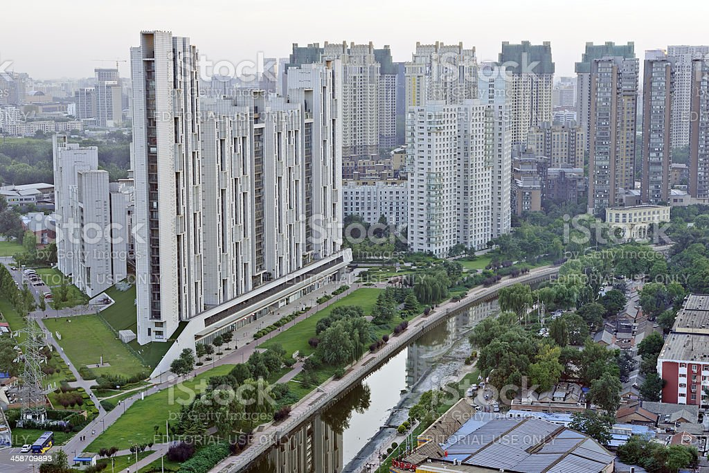 Contemporary Apartments in Beijing royalty-free stock photo