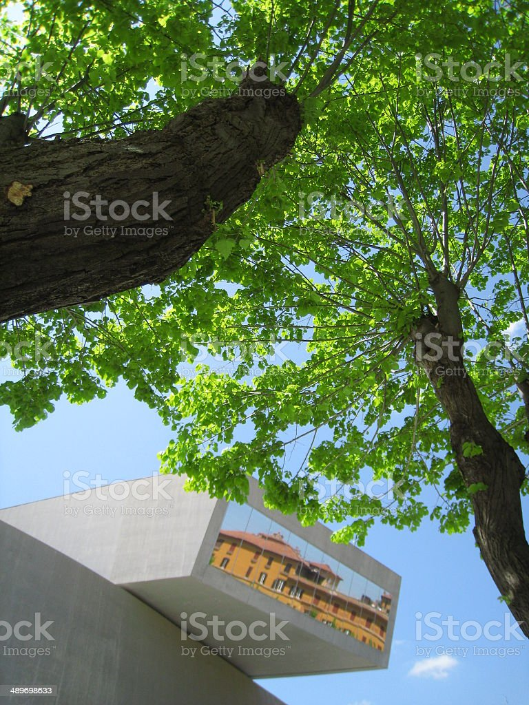contemporary architecture and nature stock photo