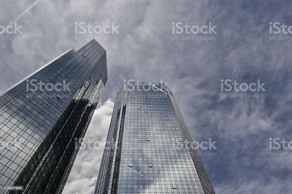 Contemporary architecture, Deutsche Bank, Green Towers stock photo