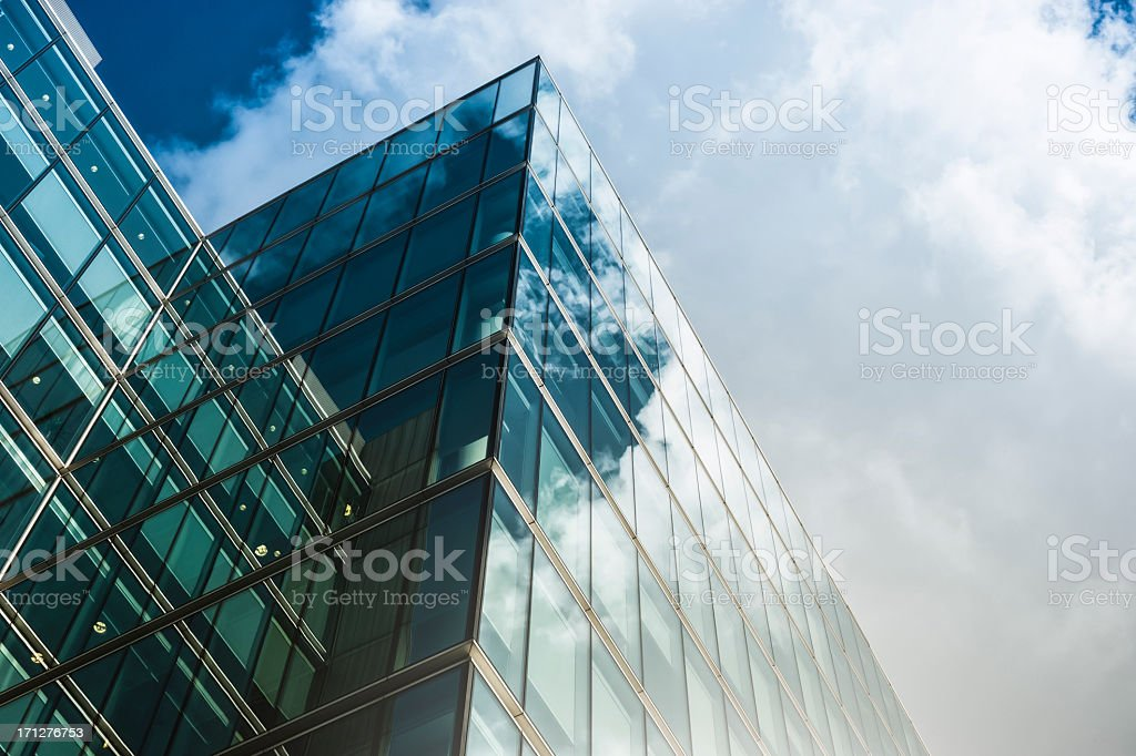 Contemporary architecture in London royalty-free stock photo