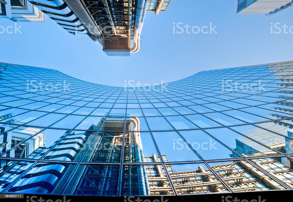 Contemporary Architecture In London, Reflection. royalty-free stock photo