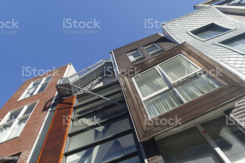 Contemporary architecture Java-eiland Amsterdam stock photo