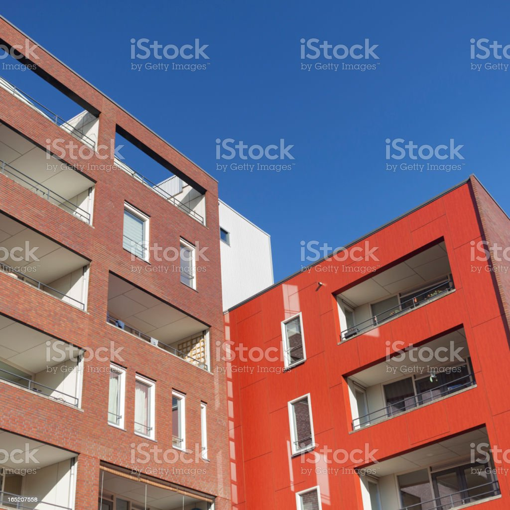 Contemporary architecture Java-eiland Amsterdam royalty-free stock photo