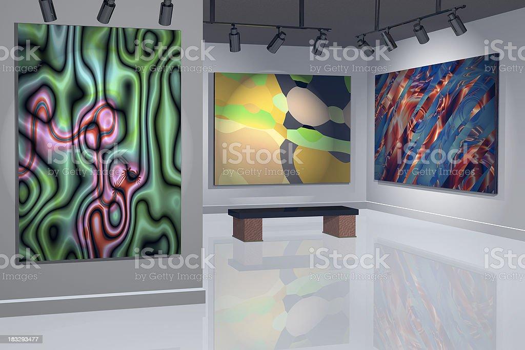 Contemporary art gallery royalty-free stock photo
