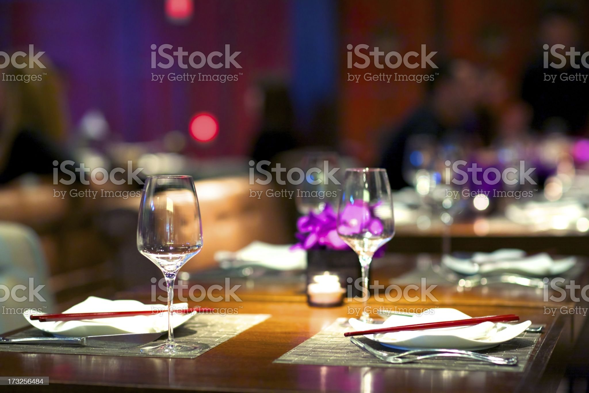 Contemporary Asian Bistro royalty-free stock photo