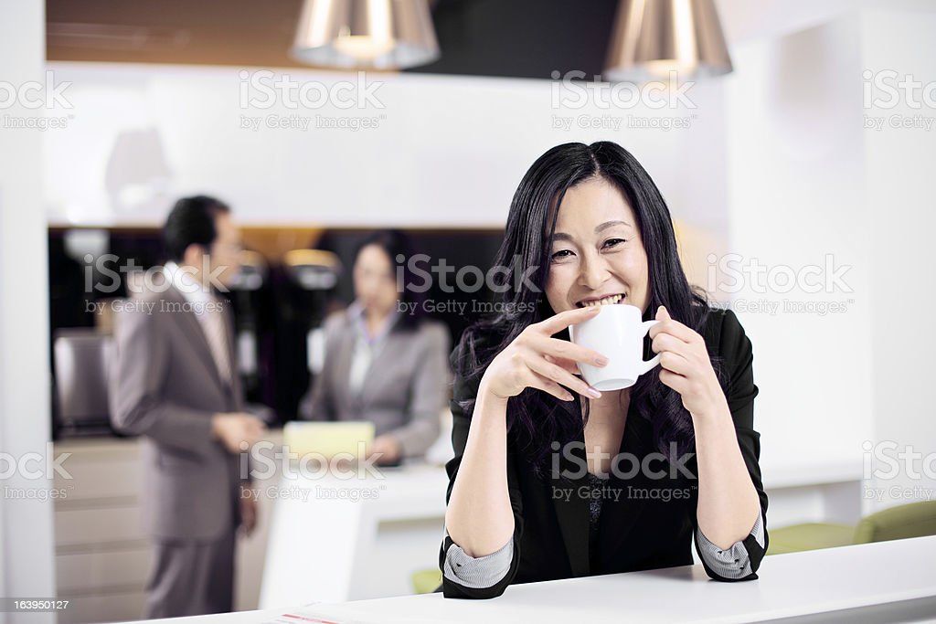 Contemporary Asian Business Team royalty-free stock photo