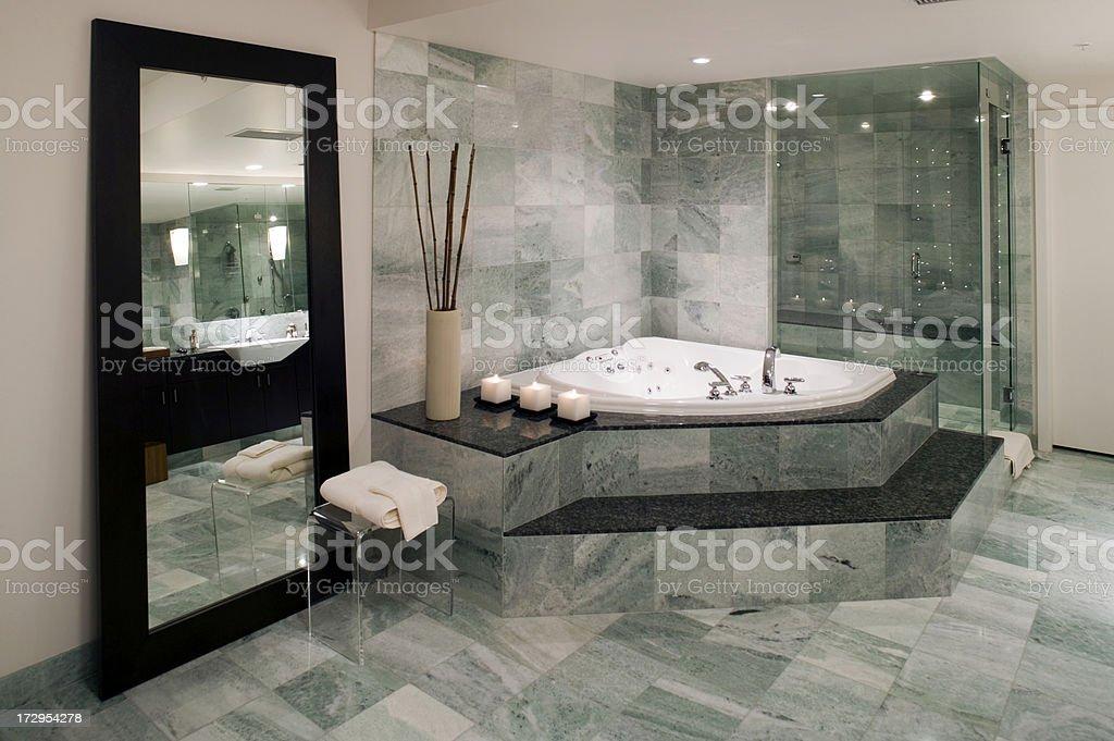 contemporary bathroom bathtub royalty-free stock photo