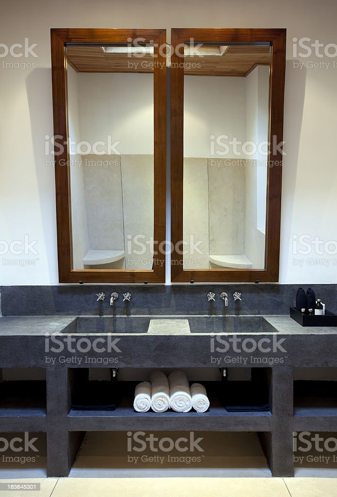 contemporary bathroom bathtub royalty-free stock photo