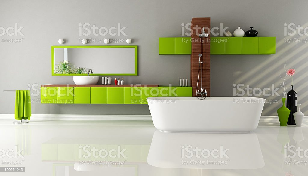 contemporary bathroom royalty-free stock photo