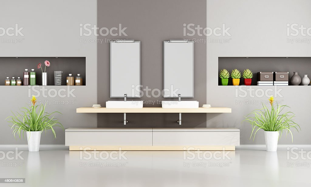 Contemporary bathroom stock photo