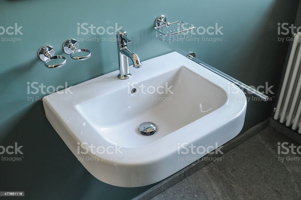 Contemporary Bathroom Sink stock photo
