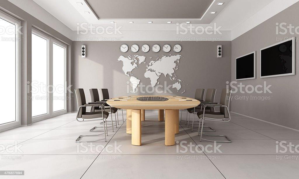 Contemporary  board room stock photo