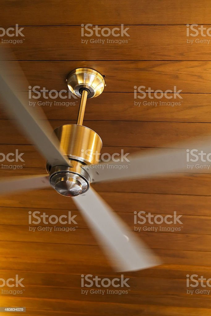 Contemporary brass Ceiling Fan royalty-free stock photo