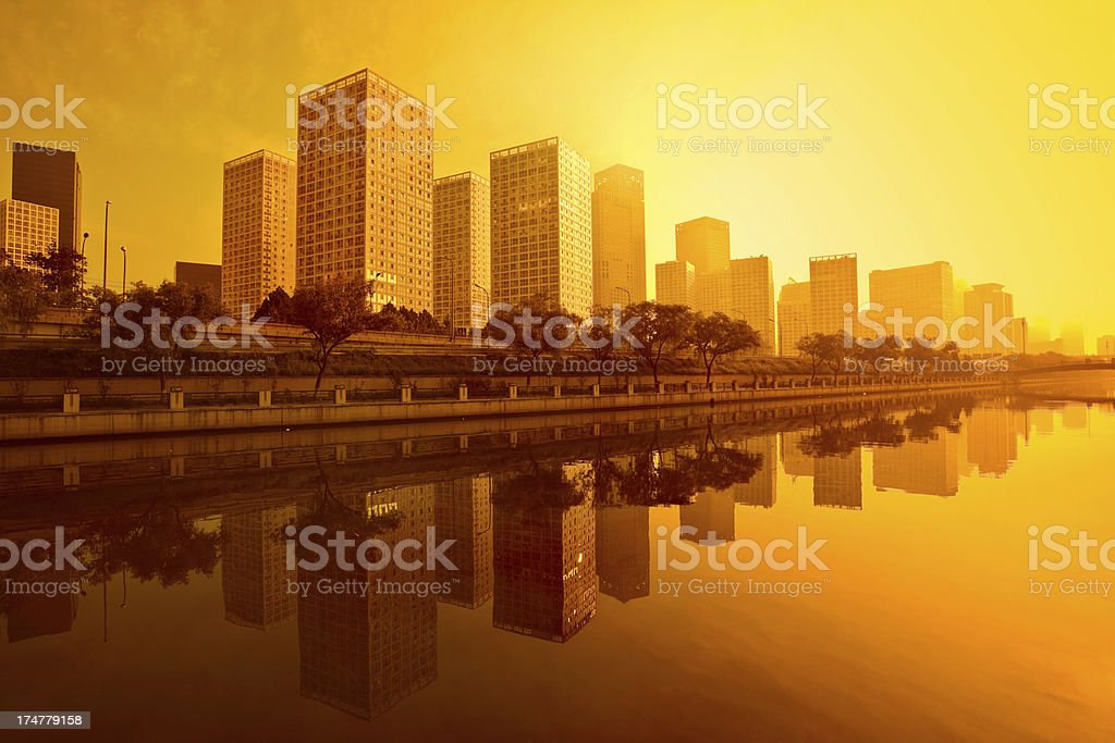 Contemporary building of beijing royalty-free stock photo