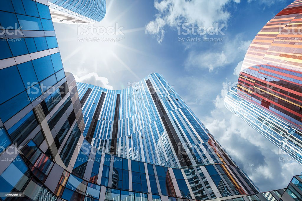 Contemporary building stock photo