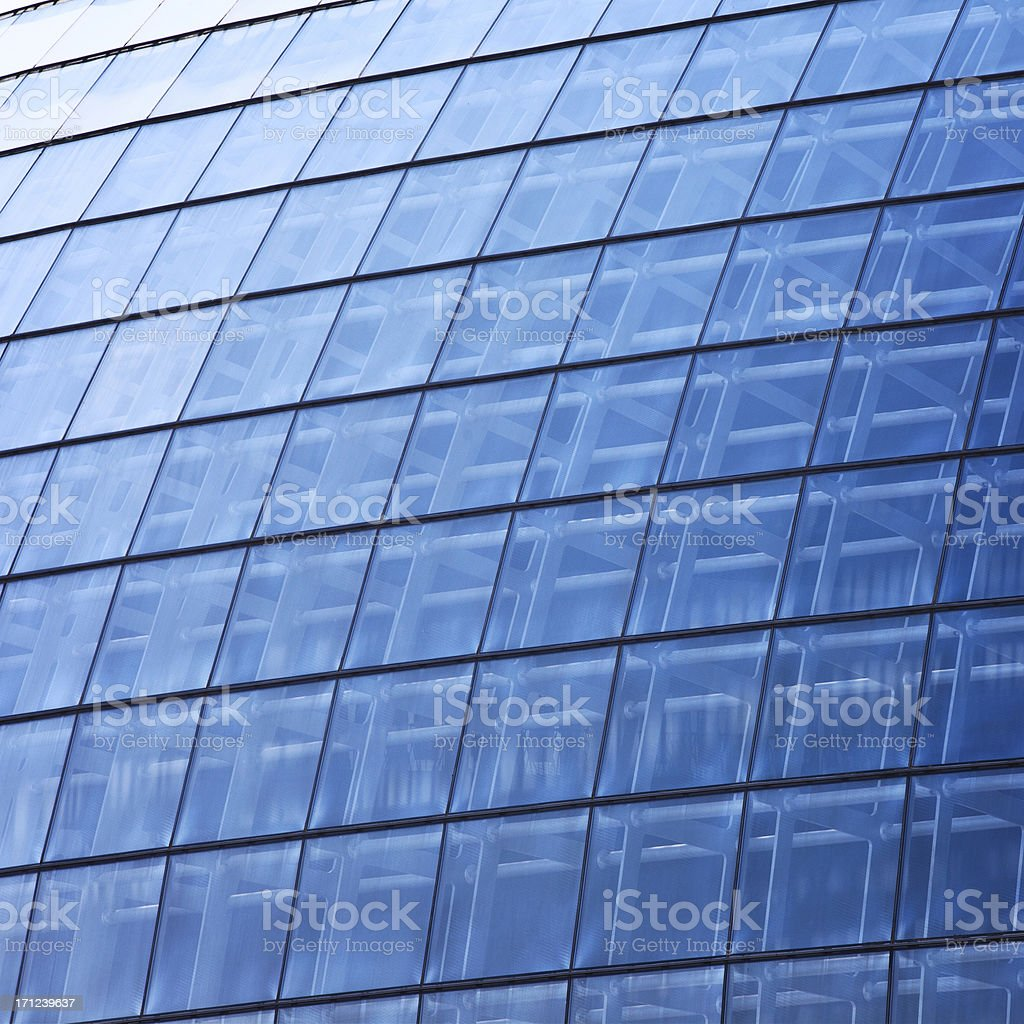 \'Steel and glass building, Contemporary architecture structure.\'
