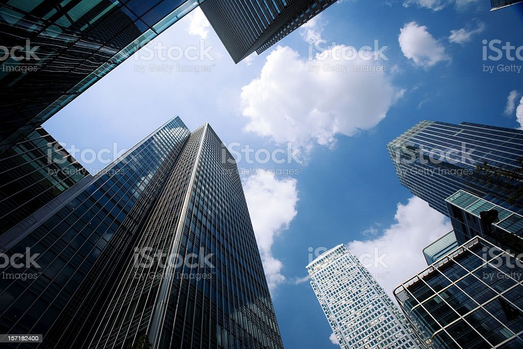 Contemporary business architecture, Docklands, London royalty-free stock photo