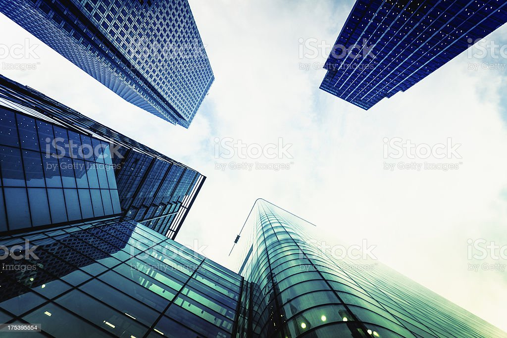 Contemporary Business District Skyscrapers royalty-free stock photo