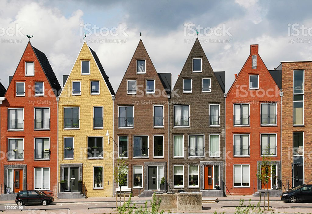 Contemporary Canal Houses stock photo