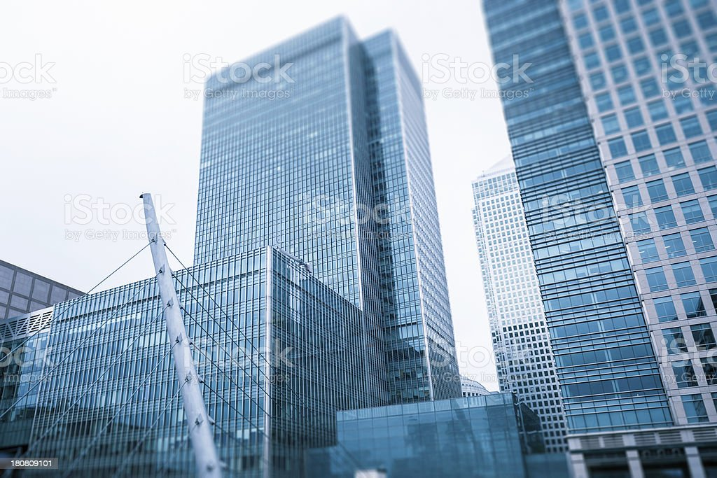 Contemporary canary wharf building royalty-free stock photo