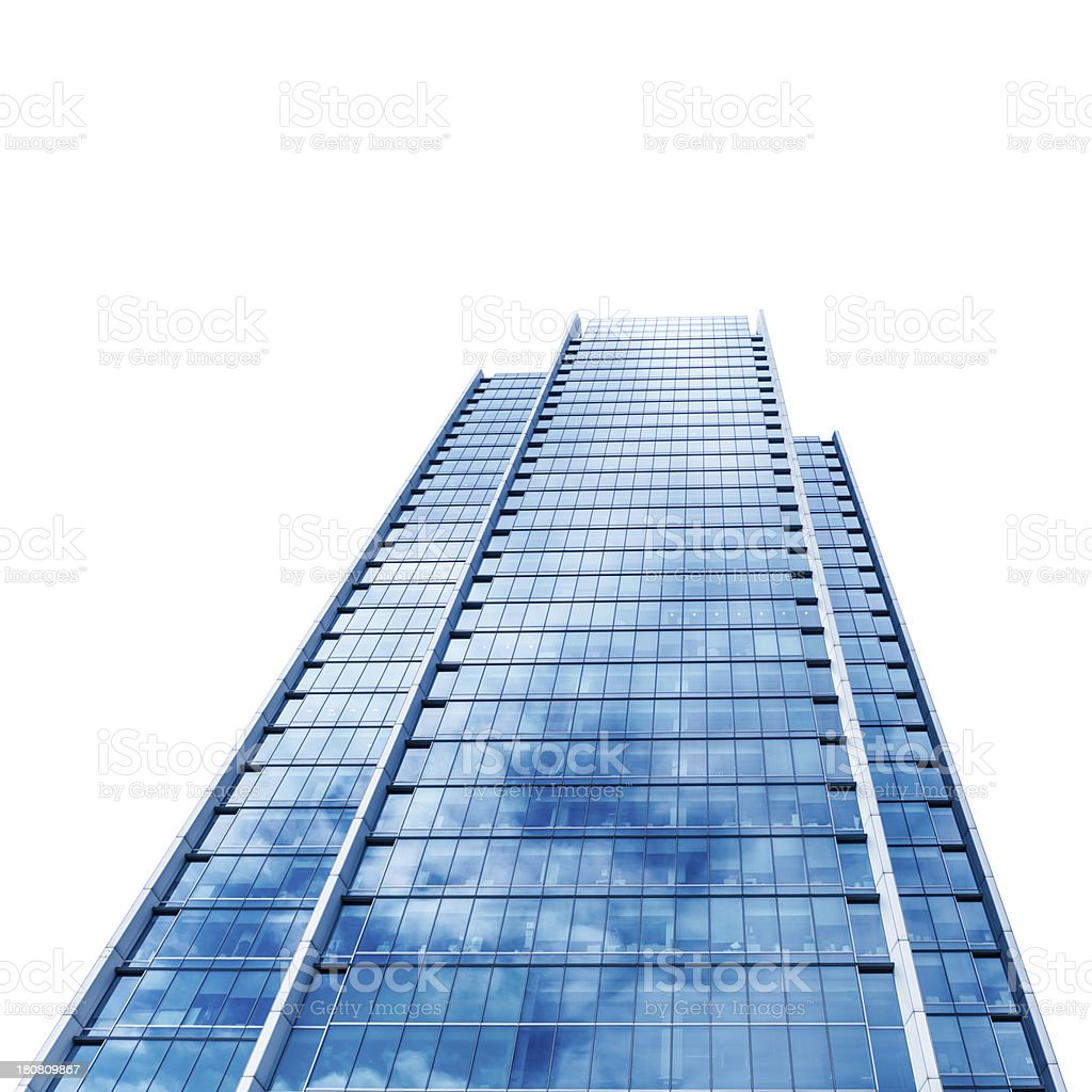 Contemporary canary wharf building royalty-free stock photo