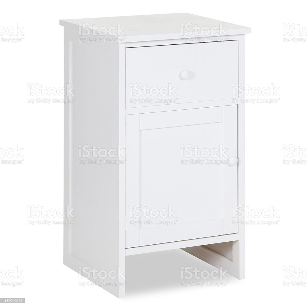 Contemporary Chest Of Drawers Isolated royalty-free stock photo