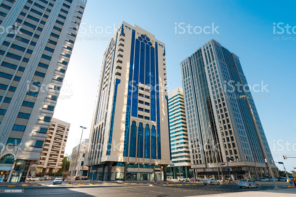Contemporary city stock photo