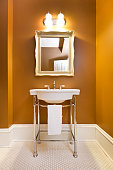 Contemporary Classic Bathroom Design with Pedestal Sink