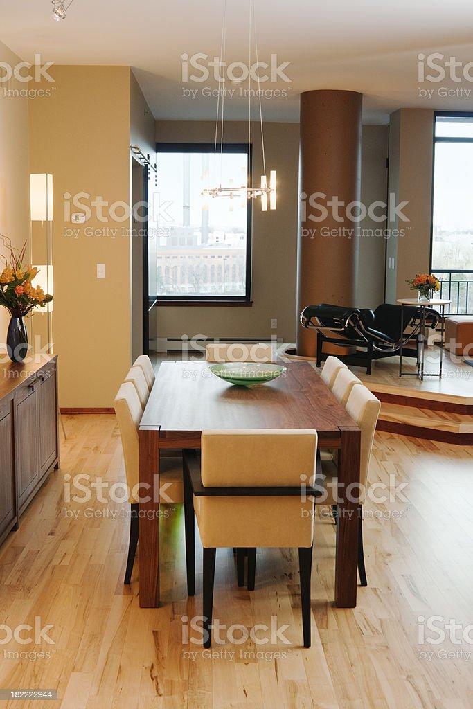 Contemporary Condominium Interior Design - Dining Room Vt royalty-free stock photo