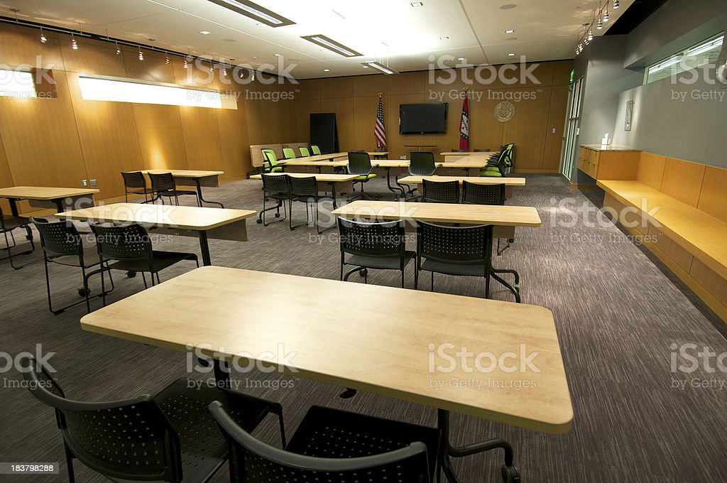 Contemporary Conference Room stock photo