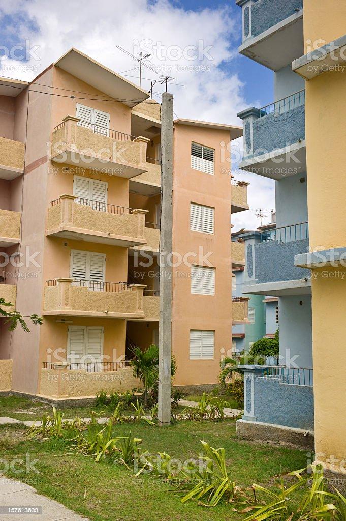 Contemporary Cuban suburbia royalty-free stock photo