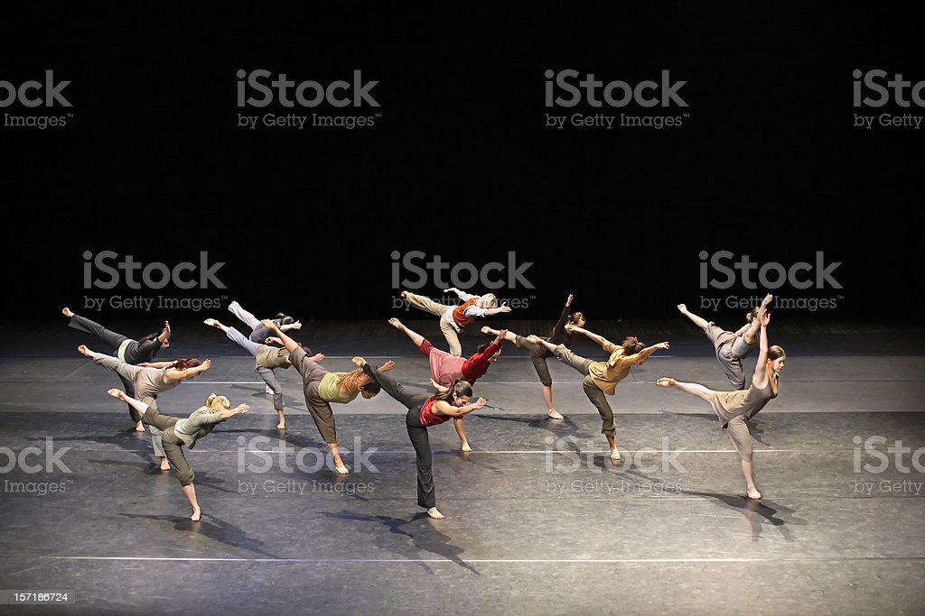 Contemporary dance royalty-free stock photo