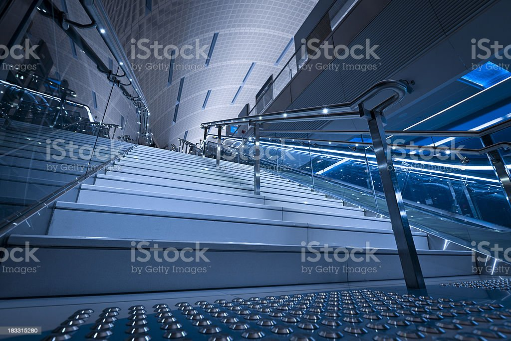 contemporary designed staircase royalty-free stock photo