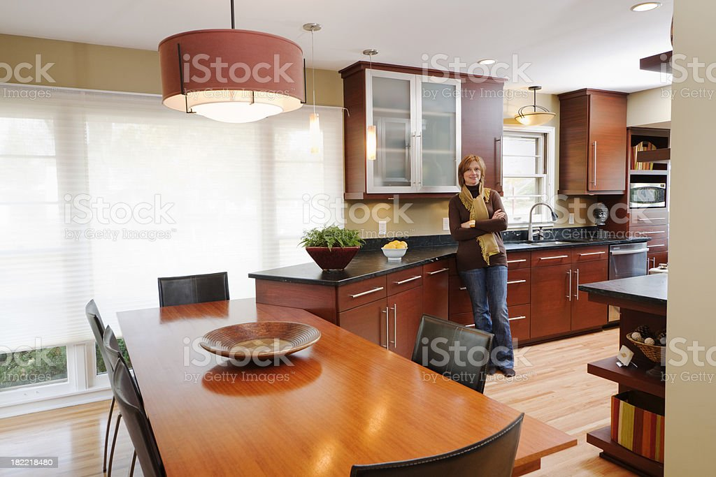 Contemporary Design—Kitchen & Dining Room Hz royalty-free stock photo