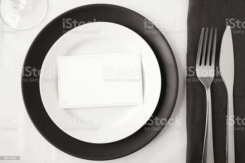Contemporary dining. royalty-free stock photo