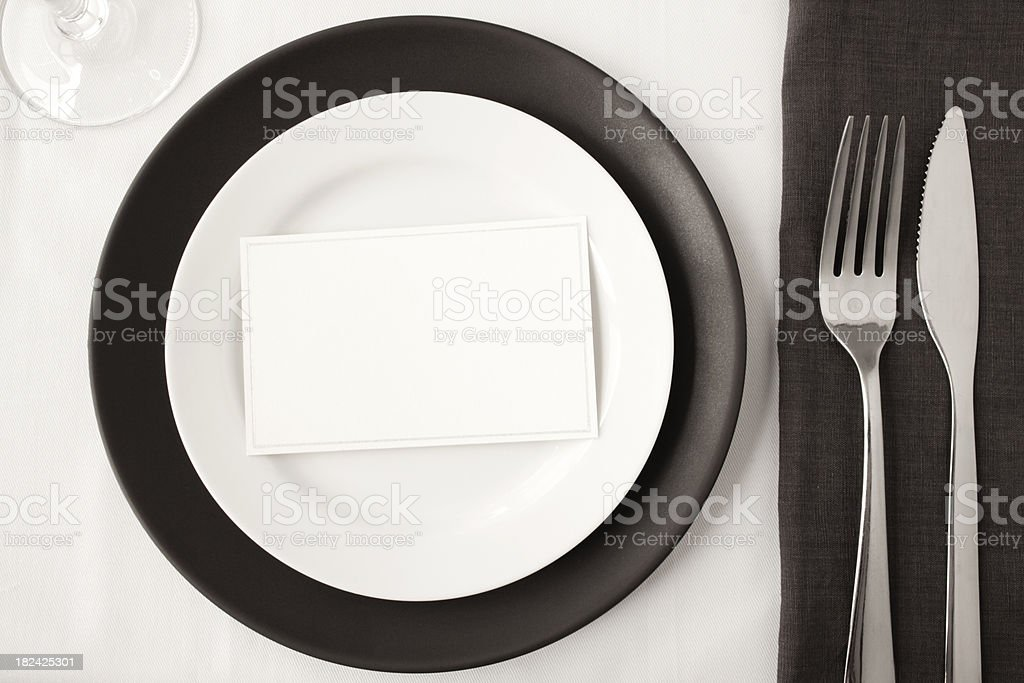 Contemporary dining. stock photo