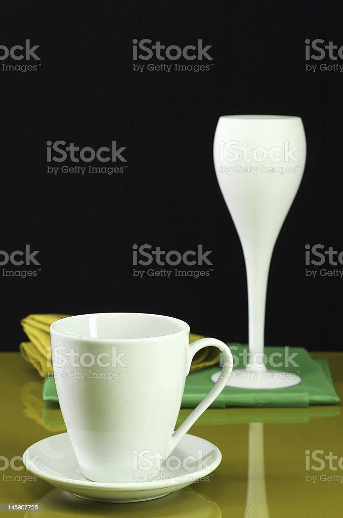 Contemporary Dishware royalty-free stock photo