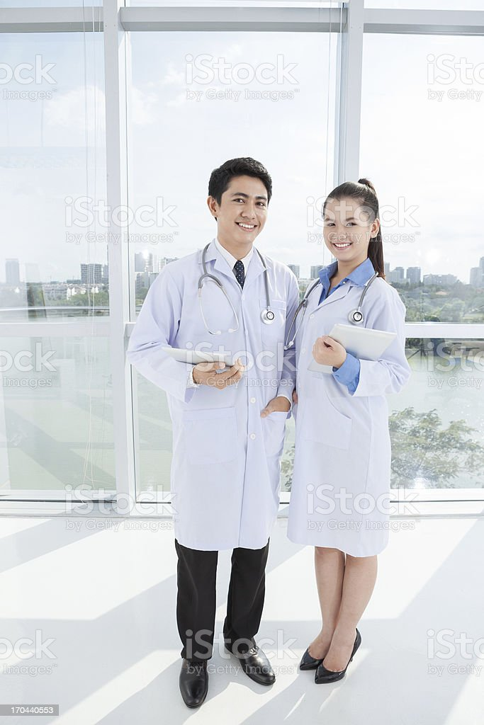 Contemporary doctors royalty-free stock photo